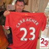 2013/2014 SEASON SHIRT SIGNED 'YNWA' BY JAMIE CARRAGHER
