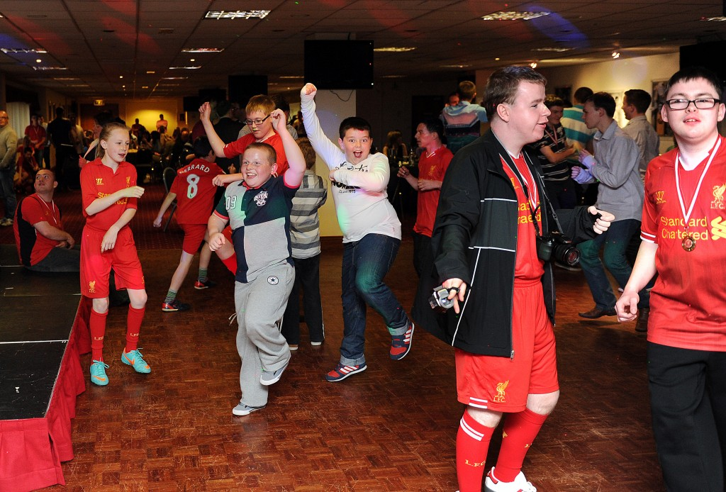 2 - Liverpool FC Foundation Ability Counts stars enjoying the awards ceremony at Anfield