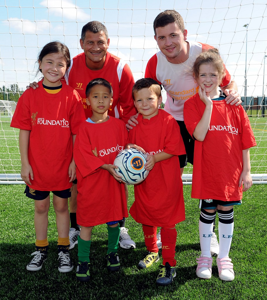 1 -Liverpool FC Foundation which provides inspiring opportunies for children and adults in Liverpool and overseas
